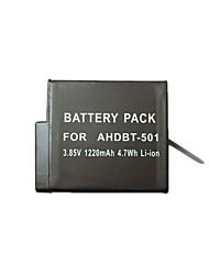 Ismartdigi 501 3.85V 1220mAh Camera Battery for Gopro Hero 5 501