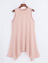 baratos -Mulheres Chique & Moderno Solto Vestido - Estilo Moderno, Sólido Assimétrico