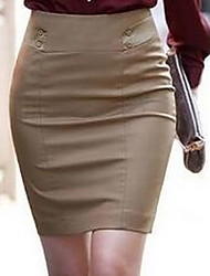 Women's Casual/Daily Mini Skirts A Line Solid Spring Fall