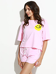 cheap -Women's Active Cotton T-shirt Print