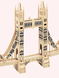 Jigsaw Puzzles Wooden Puzzles Building Blocks DIY Toys Tower Bridge of London 1 Wood Ivory Model & Building Toy