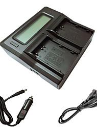 ismartdigi el3e LCD de doble cargador con el cable de carga del coche para Nikon D90 D80 D300 D700 D300S D200 ENEL3E BATTERYS cámara