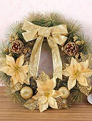 Недорогие -1 шт Рождественский венок хвою рождественские украшения для домашнего диаметра партия 40см NAVIDAD новые поставки год