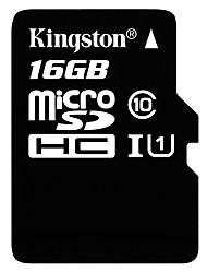 Kingston 16GB TF Micro SD Card scheda di memoria UHS-I U1 Class10