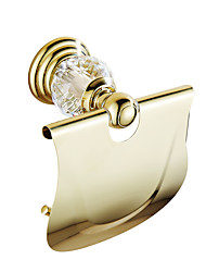 cheap -Toilet Paper Holder Contemporary Brass Crystal 1 pc - Hotel bath