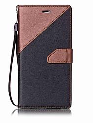 preiswerte -Für Geldbeutel / Kreditkartenfächer / mit Halterung Hülle Handyhülle für das ganze Handy Hülle Einheitliche Farbe Hart PU - Leder für