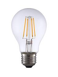 E26 Lâmpadas de Filamento de LED A60(A19) 4 leds COB Regulável Branco Quente 350lm 2700K AC 110-130V