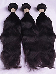 Недорогие -3 Связки Малазийские волосы Волнистый Естественные волны 8A Натуральные волосы Человека ткет Волосы Ткет человеческих волос Расширения человеческих волос