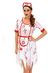 Costumi di carriera Infermieri/e Costumi Cosplay Vestito da Serata Elegante Donna Halloween Carnevale Feste/vacanze Costumi Halloween Con