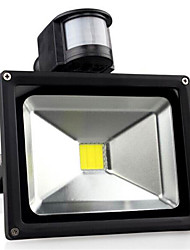 cheap -LED Floodlight Sensor Portable Dimmable Easy Install Outdoor Lighting Garage/Carport Warm White Cold White AC 85-265V