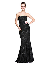 cheap -Mermaid / Trumpet Strapless Floor Length Lace Celebrity Style Prom / Formal Evening Dress with Sequin by TS Couture®