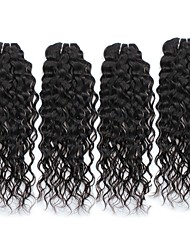 cheap -Peruvian Hair Unprocessed Water Wave Human Hair Weaves 4pcs 4PCS Hot Sale