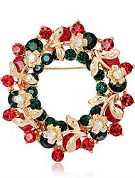 Dámské Brože Květiny Květinový Circle Shape Flower Shape Geometric Shape Šperky Pro Párty Ležérní