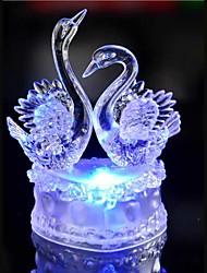 led kristály két hattyú színes dekoráció hangulat lámpa újdonság világítás karácsonyi fény