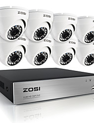 zosi®hd 8ch 720P DVR 8pcs kit 1.0MP intemperie sicurezza domestica all'aperto sorveglianza fotocamera