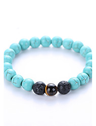 cheap -Men's Women's Strand Bracelet Yoga Bracelet Birthstones Synthetic Gemstones Agate Turquoise Jewelry For Party Birthday Congratulations