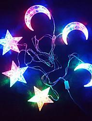 The Stars The Moon Light String Coloured Luminous 30 Lamp Holder 6 Hangs