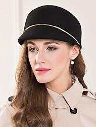 Недорогие -шерстяные сплавы шляпы головной убор свадебный вечер элегантный женственный стиль
