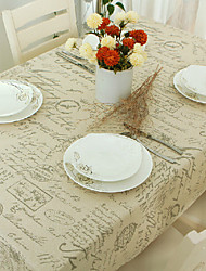 Rectangular Patterned Table Cloth , Linen / Cotton Blend MaterialHotel Dining Table Wedding Banquet Dinner Table Decoration Weddings
