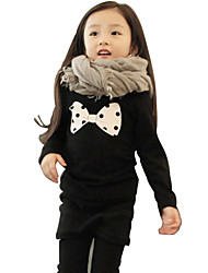 Girls Fashion Bowknot Is Upset With Velvet Long-Sleeved Princess Dress