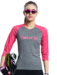 cheap -SANTIC Women's Cycling Jersey Bike Tee / T-shirt / Jersey / Top Ultraviolet Resistant, Breathable, Soft Retro, Patchwork, Classic Bike