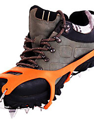 cheap -Traction Cleats Climbing Shoes Crampons 18 Teeth Anti Slip Rubber StainlessSteel