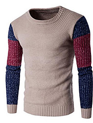 cheap -Men's Casual Pullover - Solid Colored Color Block