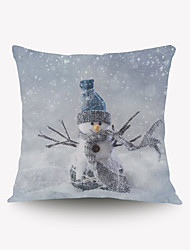 cheap -Christmas Christmas Gift Gift Pillow Cover Series Romantic Snowman Pillow Flannel Material
