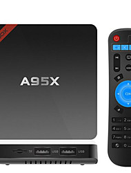 A95X Amlogic S905X Android TV Box,RAM 2GB ROM 16GB Quad Core WiFi 802.11n Bluetooth 4.0