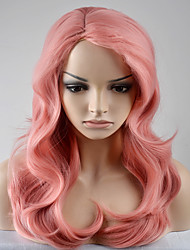 cheap -Synthetic Hair Wigs Natural Wave Capless Carnival Wig Halloween Wig Natural Wigs Long Very Long Pink Synthetic Wig