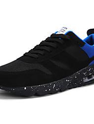 お買い得  -男性用 靴 レザーレット 春 秋 コンフォートシューズ アスレチック・シューズ ランニング ブラック シルバー /  ブラック ブラック / レッド ブラックとブルー