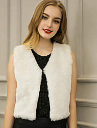 cheap -Faux Fur Wedding Party Evening Office & Career Women's Wrap Vests