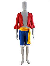 abordables -Inspirado por One Piece Cosplay Animé Disfraces de cosplay Trajes Cosplay Un Color Chaqueta Cinturón Pantalones cortos Para Hombre