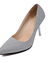 cheap -Women's Heels Fall Winter Comfort PU Casual Low Heel Silver Gold
