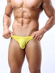 cheap -Men's Solid Thin, Rayon Spandex White Black Yellow Navy Blue Blue
