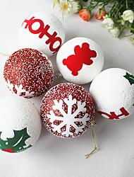 1pc noël 8cm balle en mousse noël pendentif arbre de Noël ornement de Noël ornement de Noël (style aléatoire)