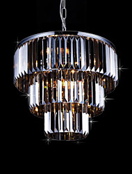 cheap -Flush Mount ,  Modern/Contemporary Electroplated Feature for Crystal Metal Living Room Bedroom Dining Room