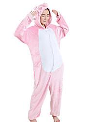 abordables -Adulte Pyjamas Kigurumi Porcelet / Cochon Combinaison de Pyjamas vison de velours Rose Cosplay Pour Homme et Femme Pyjamas Animale Dessin animé Fête / Célébration Les costumes