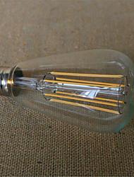 economico -1pcs 6w e26 / e27 ha condotto le lampadine del filamento st64 6 leds cob decorativo dimmable bianco caldo 500-550lm 2300-2800k ac 220-240v