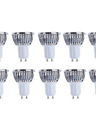 5w gu10 led projecteur 4 cob 500lm blanc chaud froid blanc 3000k / 6500k dimmable ac 220-240 ac 110-130v 10 pcs