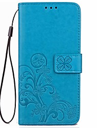 cheap -Case For Asus ZenFone Max ZC550KL Asus Zenfone 2 Laser ZE550KL Asus Card Holder Wallet with Stand Auto Sleep / Wake Pattern Full Body