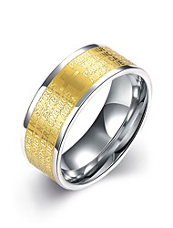 Men's Ring Fashion European Costume Jewelry Stainless Steel Gold Plated Jewelry For Wedding Party Daily Casual