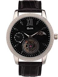 Oulm Pánské Náramkové hodinky Automatické natahování / Pravá kůže Kapela Běžné nošení Cool Černá Modrá Hnědá Bílá Černá Kávová Modrá