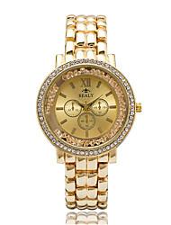 cheap -Women's Fashion Watch Wrist watch Casual Watch Floating Crystal Watch Quartz Imitation Diamond Rhinestone / Alloy Band Casual Elegant Cool