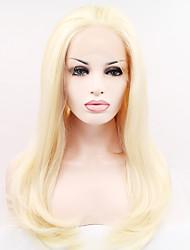 abordables -Peluca Lace Front Sintéticas Ondulado Natural Pelo sintético Entradas Naturales Peluca Mujer Larga / Muy largo Encaje Frontal