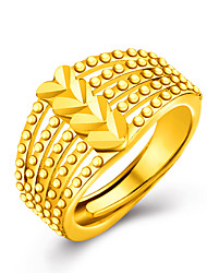 cheap -Women's Luxury Gold / 18K Gold Heart Statement Ring - Personalized / Luxury / Love Golden Ring For Wedding / Party / Gift