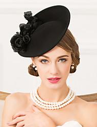 cheap -Wool Fabric Headbands Hats Headpiece Classical Feminine Style