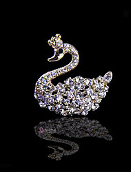 Little Swan Bride Wedding Diamond Crystal Brooch