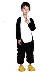 Kigurumi plišana pidžama Panda Onesie pidžama Kostim Flanel Flis Crna/Bijela Cosplay Za Dijete Zivotinja Odjeća Za Apavanje Crtani film