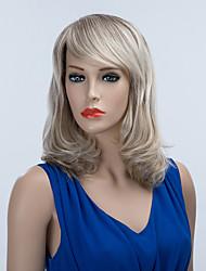 preiswerte -edle mittellange capless Perücken natürliche welligen menschliches Haar